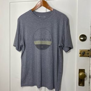 Travis Mathew Gray Graphic Short Sleeve Tee Shirt